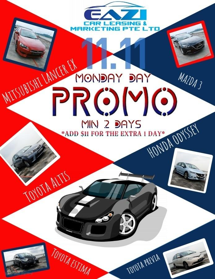 null 11.11 Cheapest Cars Rental Promo
