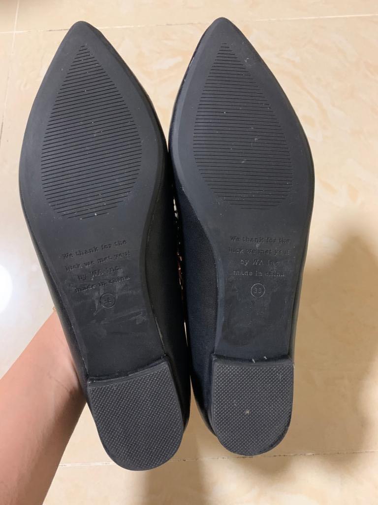 Oriental Traffic  black flats 黑色平底鞋
