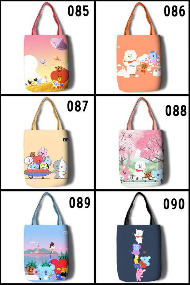 P.O. BTS BT21 army eco fashion shoulder bag tote book