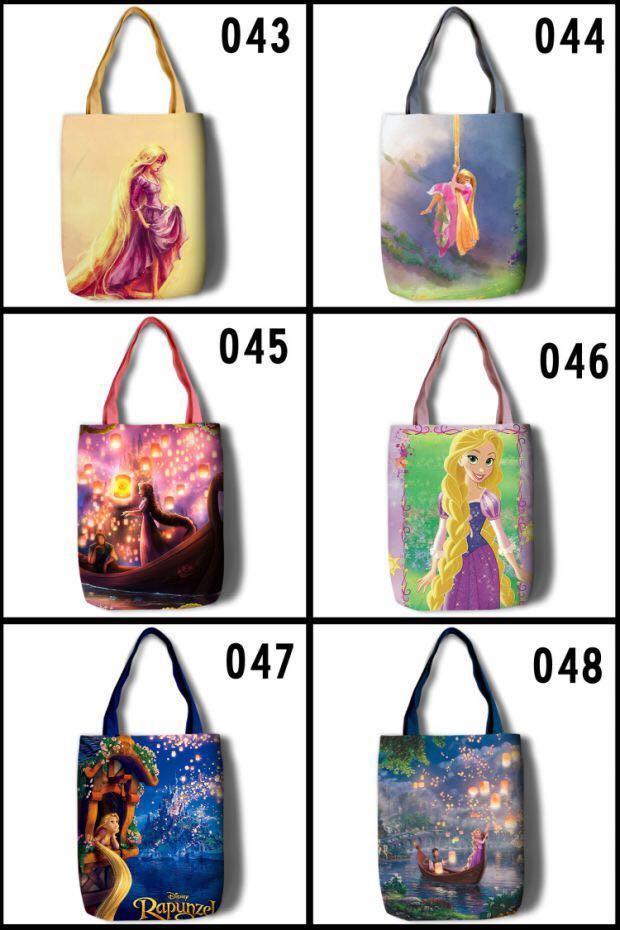 P.O. Rapunzel Disney Princess tangled tote bag eco shoulder book fashion