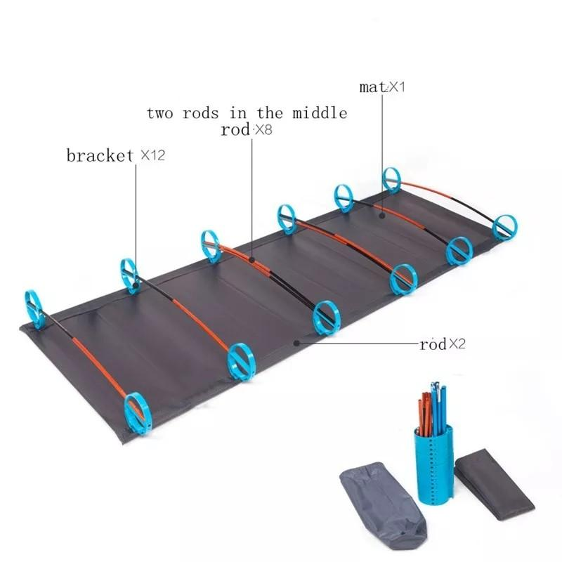 🆕🆙🈶Portable camping cot Folding bed Ultralight inflatable mattress Air mattress Army cot Rest mat For outdoor survival ✔Good Quality, Long Lasting, Lightweight, Easy Set-up