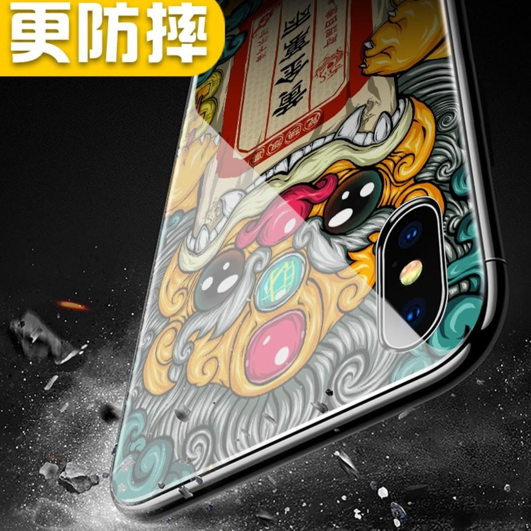 PROMO 💥iPhone XS Max Tempered Glass Casing - 玉兔捣药💥