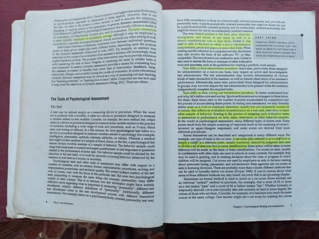 Psychological Testing and Assessment by Cohen. Swerdlik. Sturman. (8th Edition)