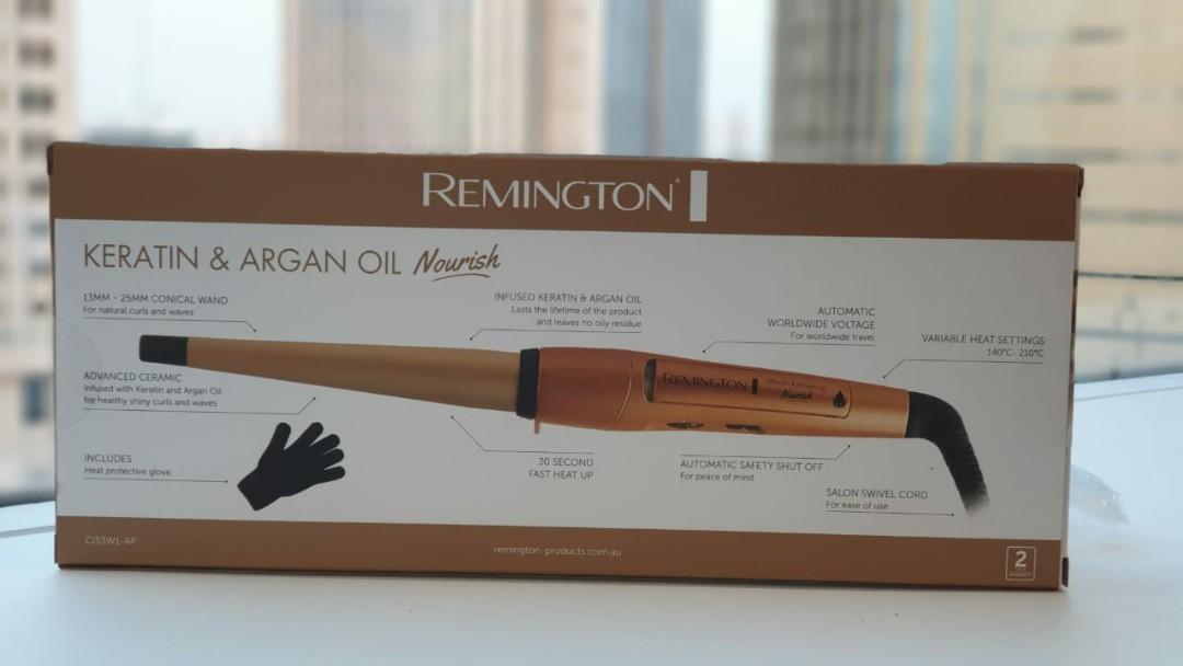 Remington Keratin & Argan Oil Nourish Tong Hair Curler