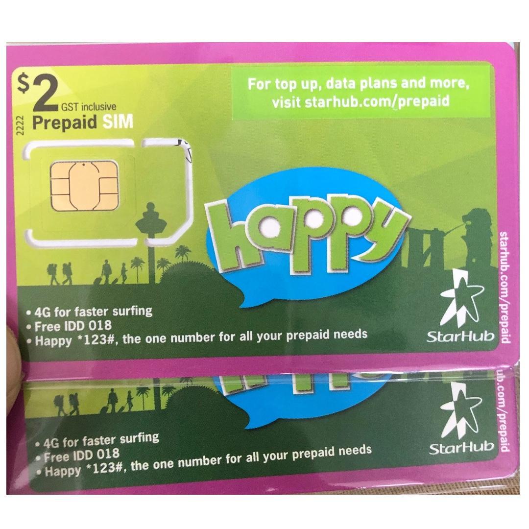 Selling Starhub Prepaid Sim Card..