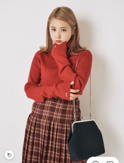 (🇯🇵日本代購)日幣¥10,780円【ruby and you】日本青文字女神AMO著用復古斜背黑包