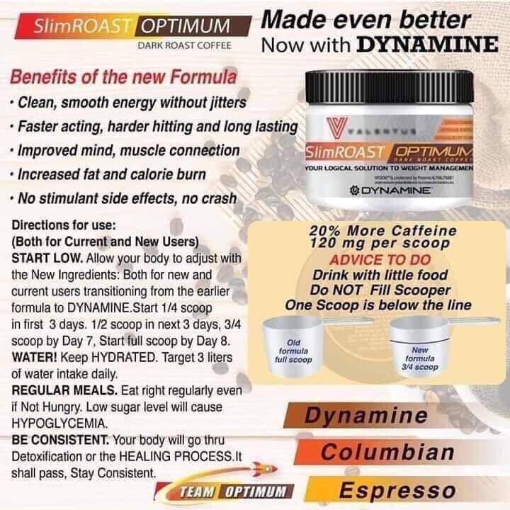 Valentus Slimroast Optimum Dark Roast Coffee Side Effects