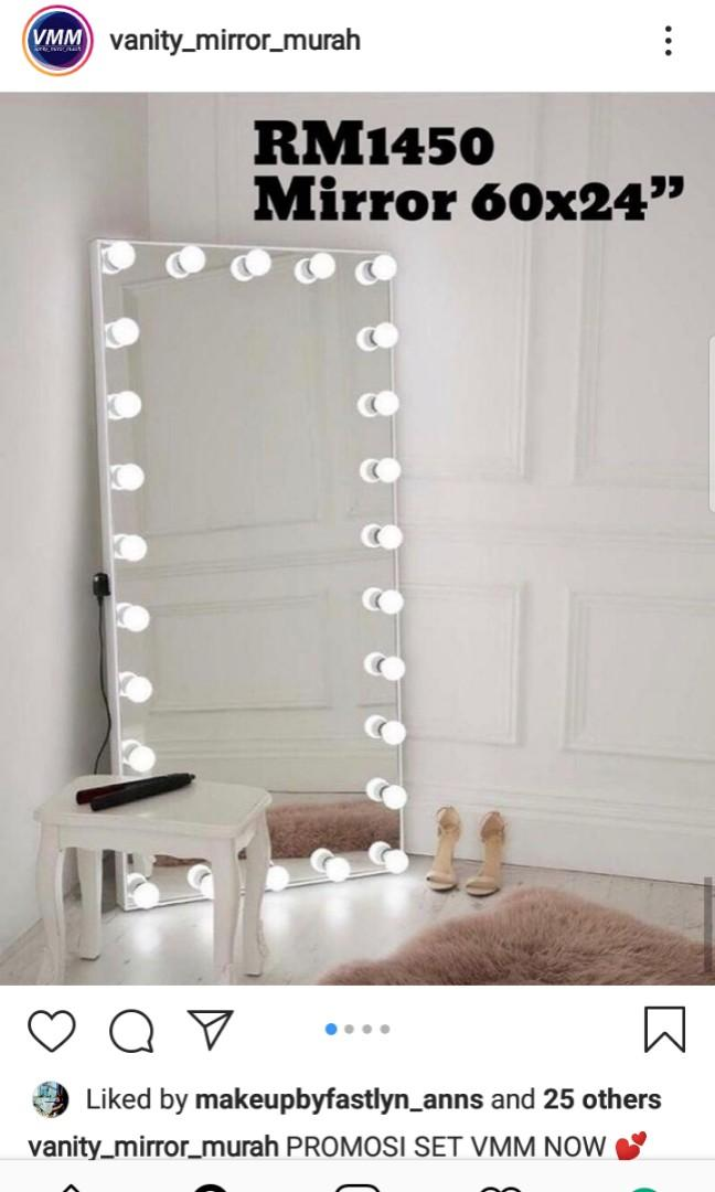 Vanity Mirror Long Home Furniture Furniture On Carousell
