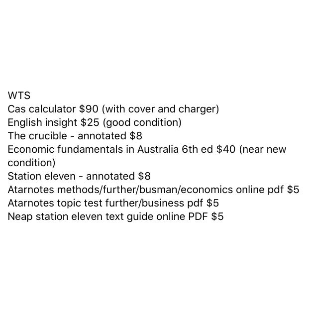 VCE BOOKS AND NOTES