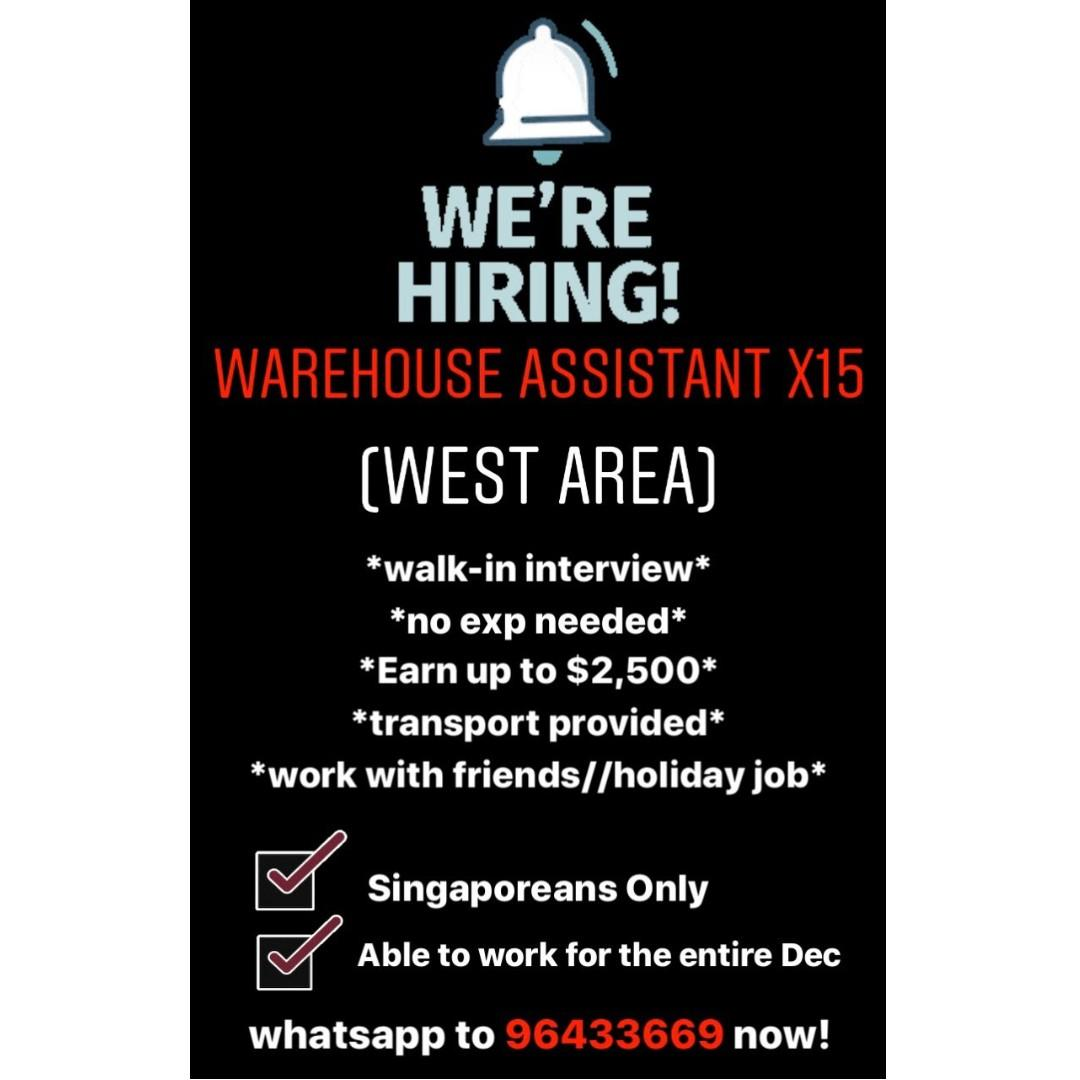 Warehouse Packer x15 (no exp! Work with friends)