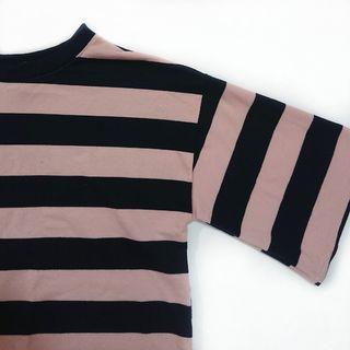 二手 女生 上衣 短袖 T恤 條紋 休閒 潮流 二手上衣