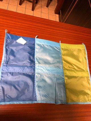 Ikea六格壁掛式防水透氣繽紛色彩收納袋/居家佈置/魔術空間/居家收納/兒童房間佈置