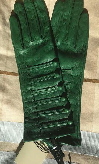 Leather Gloves (New, Tags on)