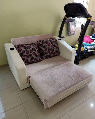 Sofa Bed baby pink white