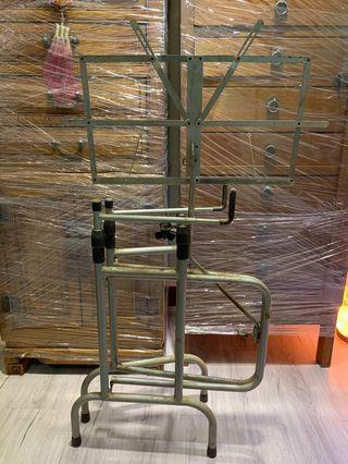 鐵製 樂譜架-16弦古箏用 四十年前的稀有老物 請細看照片 因運送問題請勿直接下標