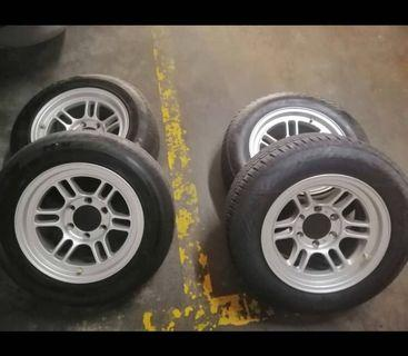 SPORT RIMS and Tyres great offer.4*4 wheel car