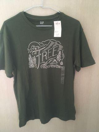 Gap 男款綠色 T恤