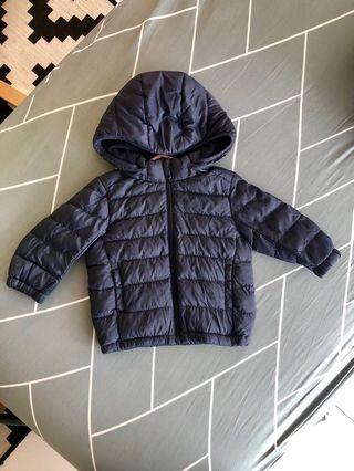 Uniqlo Winter Jacket Light Warm Padded Full Zip Hooded Parka for 80cm Boy