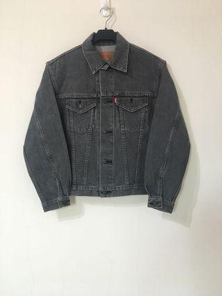 古著 Vintage 80's~90's Levi's Levis 牛仔外套 鐵灰 W7505 日本製 男女皆可