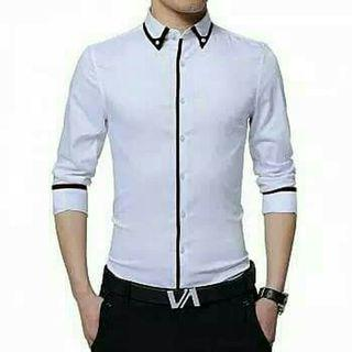 Baju kemeja formal cowo katun stretch murah