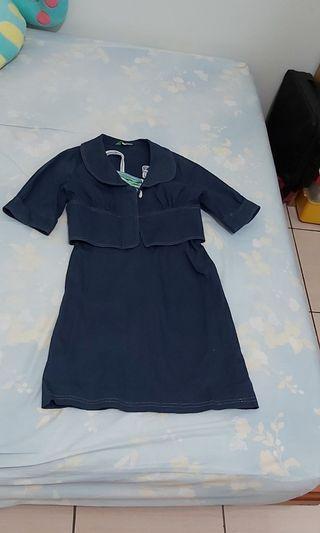 專櫃深藍小洋裝