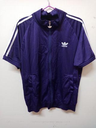 adidas紫色運動休閒服(衣+褲)