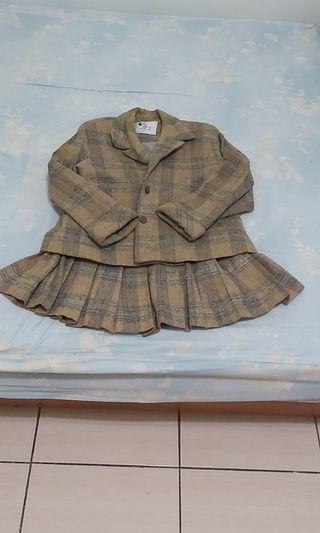羊毛格紋洋裝