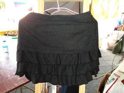 H2O毛質蛋糕裙短裙