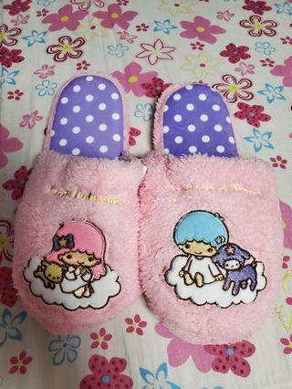三麗鷗 雙子星保暖拖鞋