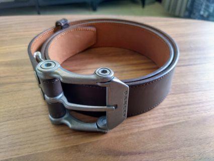 新竹面交 Oakley belt 鋁合金 真皮 皮帶