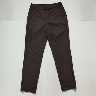 Uniqlo slim fit ankle pants dark brown