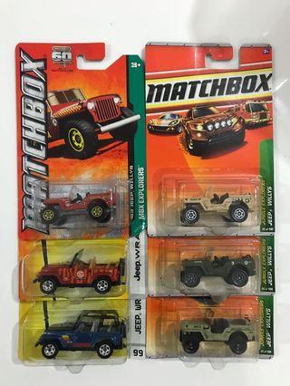Matchbox jeep lot