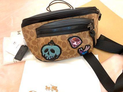 Authentic Coach men chest bag 72952 Halloween collection Disney
