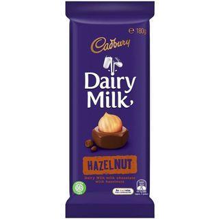 CADBURY DAIRY MILK HAZELNUT CHOCOLATE BAR 180g