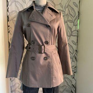 日本Michel Klein 短款合身風衣外套