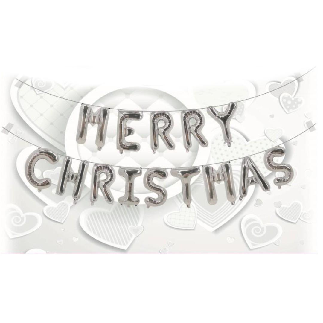 16 inch MERRY CHRISTMAS foil balloon