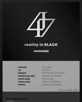 Mamamoo 2nd Album: Reality In Black