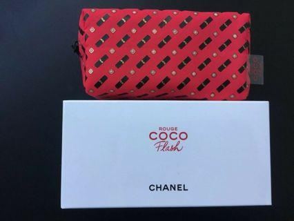 CHANEL NEW Rouge Coco Flash Small Makeup Bag / Pouch