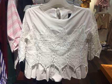 (Clearance stock 🔥)white lace top