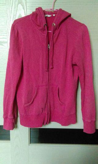 Bossini 內刷毛 桃紅 外套 冬季