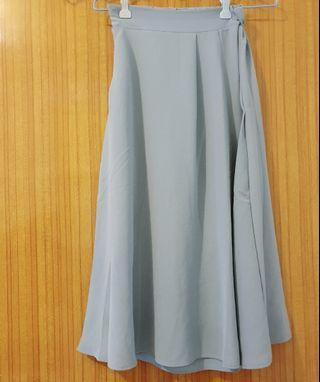優雅藍灰色一片裙