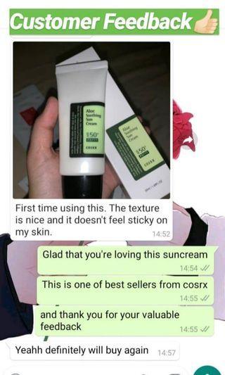 ✨[COSRX] Aloe Soothing Suncream for Oily Skin