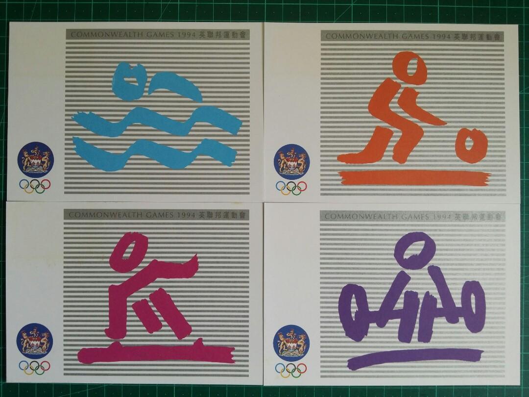 [已售兩套]1994 英聯邦運動會 原圖明信片