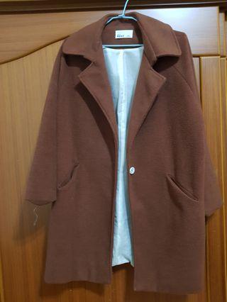 (實穿照)韓製156cm矮個子必備大衣
