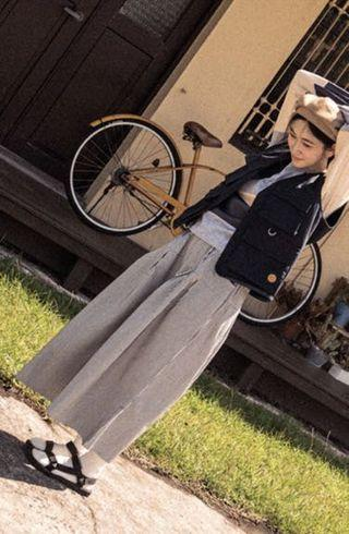 QUEENSHOP OUTDOOR 配色條紋褲裙