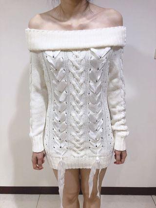連身毛衣洋裝