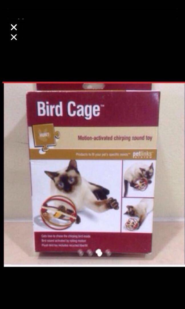 $29.90 Bird Cage Motion-activated Chirping Sound Toy ( Brand New & Sealed In Box