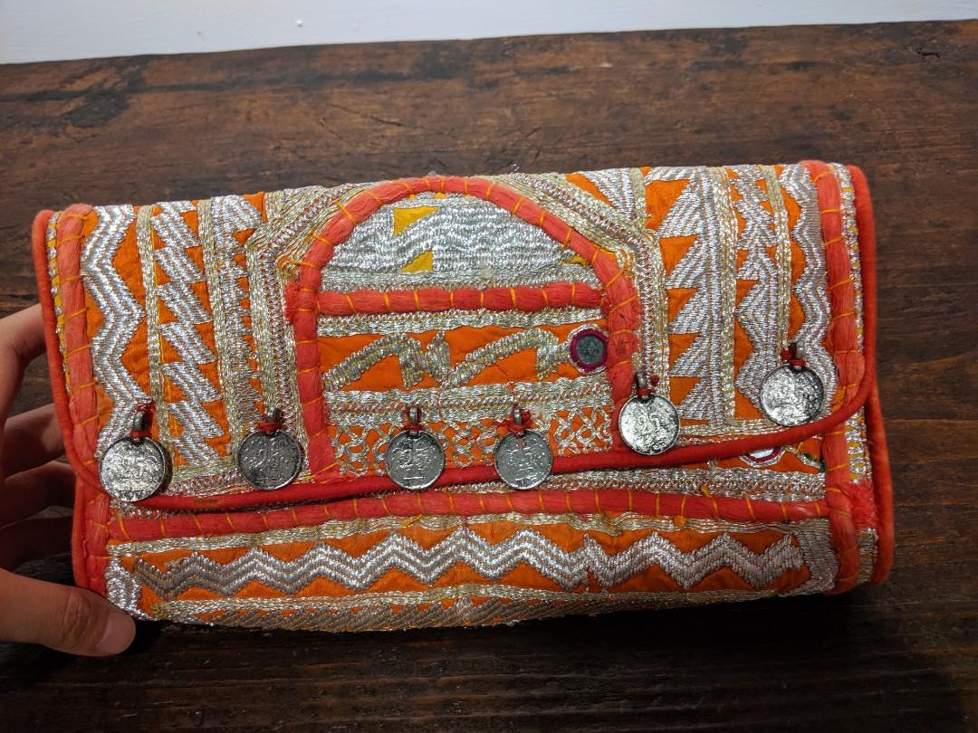 印度手工刺繡包3折出清