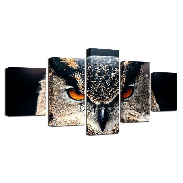 5 Panel Modular Owl Canvas Art😊