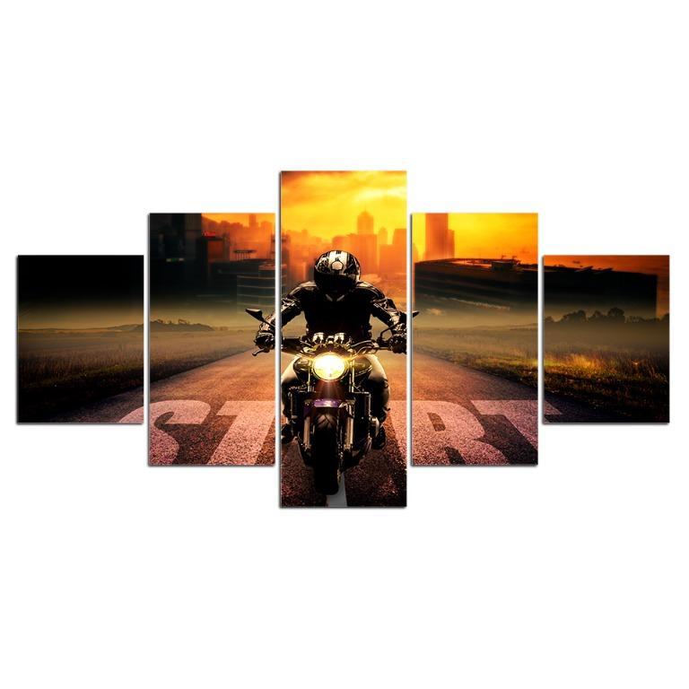 5 Panel Motorcycle Racers😊